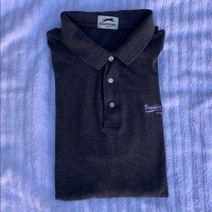 SLAZENGER - Men's Gray Polo Golf Style Shirt